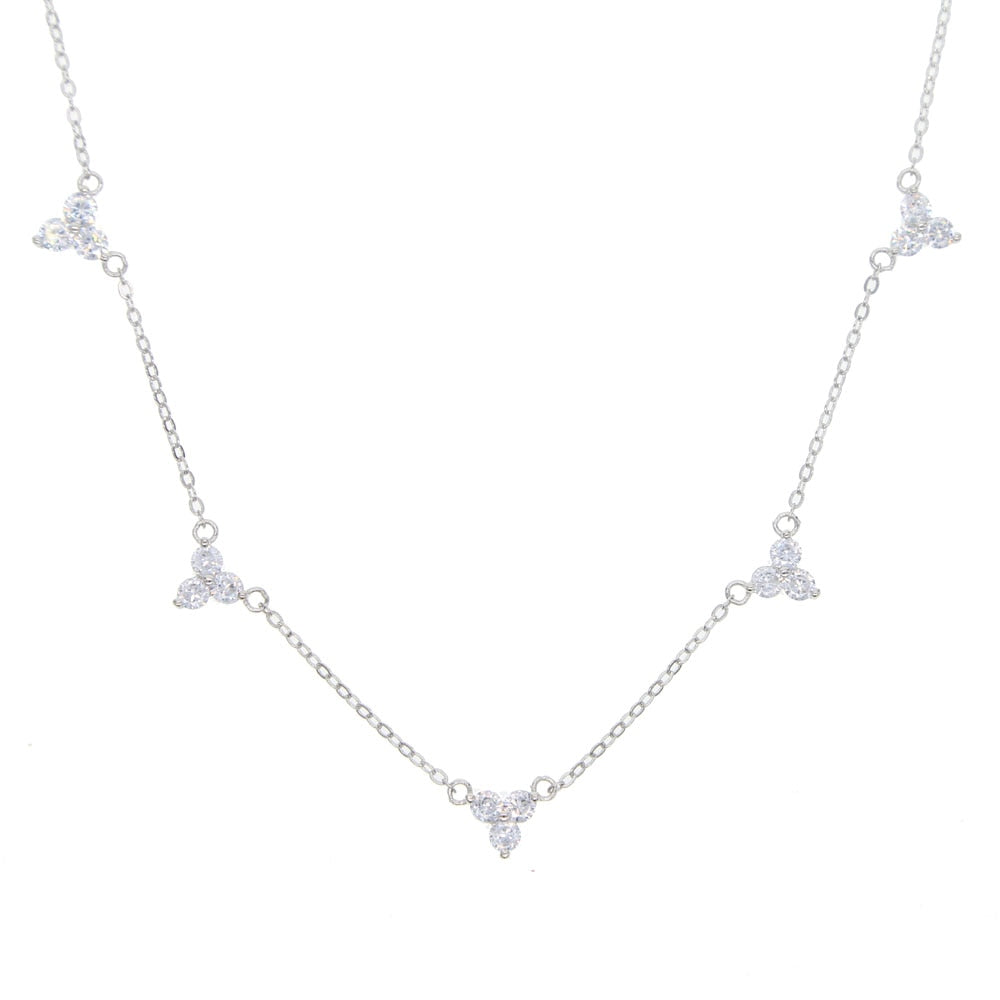 Triple Cluster Necklace