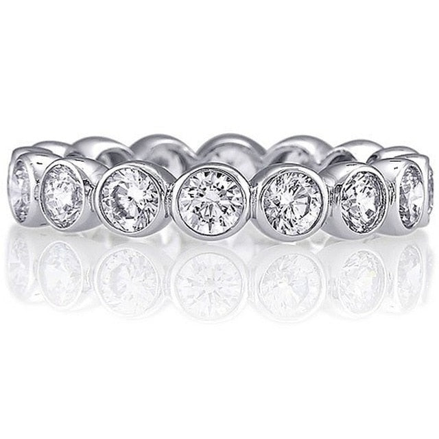 Round Bezel Eternity Band