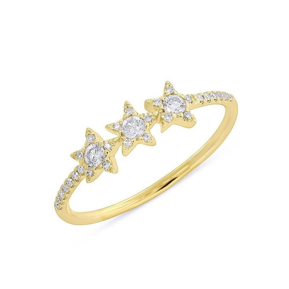 Gold Stars Stack Ring