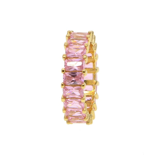 Color Gem Eternity Bands