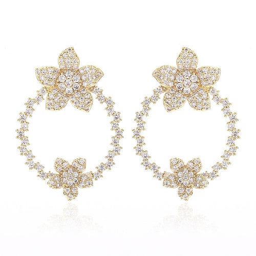 Frances Flower Drop Earring