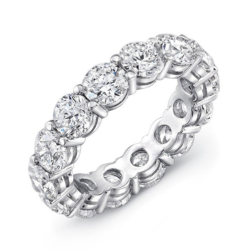 Round Cut Gem Eternity Band