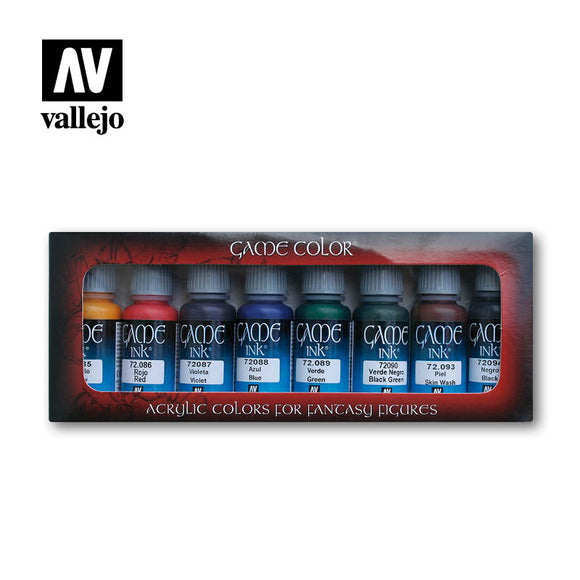 Vallejo Game Colour Game Ink 8 Colour Set