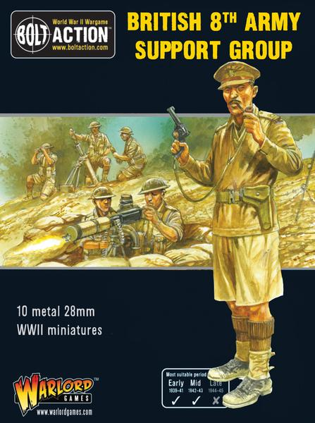 Warlord Games Bolt Action 8th Army Support Group