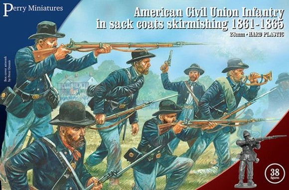 Perry Miniatures ACW Union Infantry In Sack Coats Skirmishing 1861-65