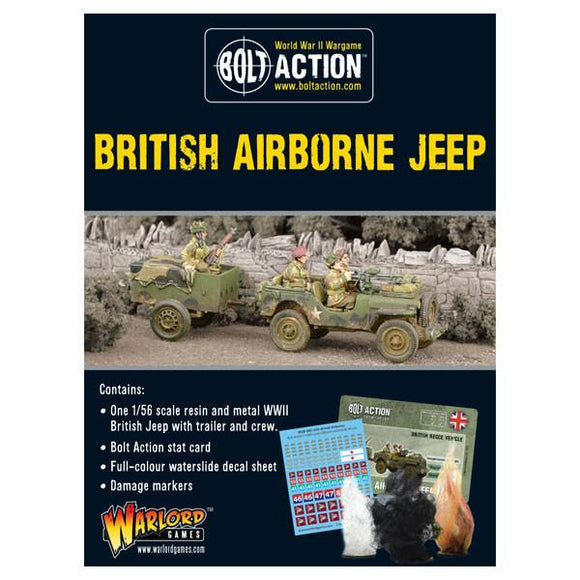 Bolt Action British Airborne Jeep & Trailer
