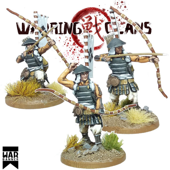 Footsore Miniatures Warring Clans Ashigaru With Yumi Set 1
