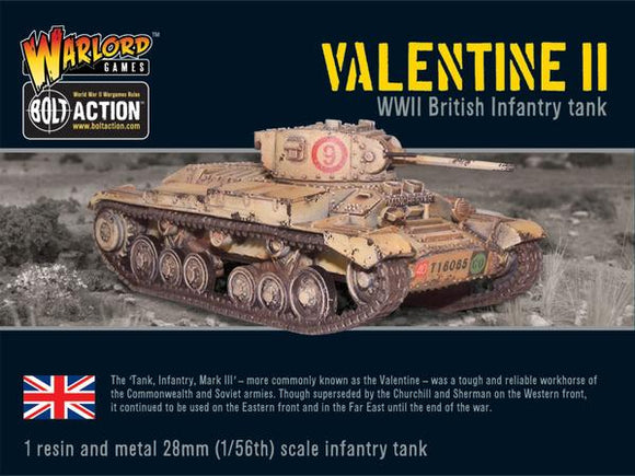 Bolt Action British Valentine II Cruiser Tank