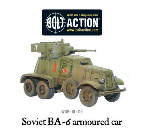 Bolt Action Soviet BA-6 Armoured Car