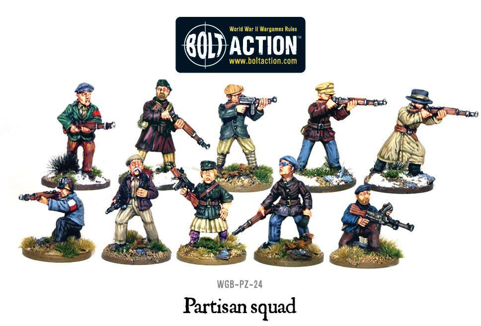 Warlord Games Bolt Action Partisan Squad – The Armchair ...
