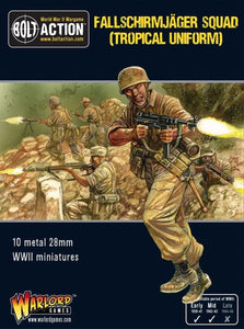 Warlord Games Bolt Action German Fallschirmjager Squad In Tropical Uniform