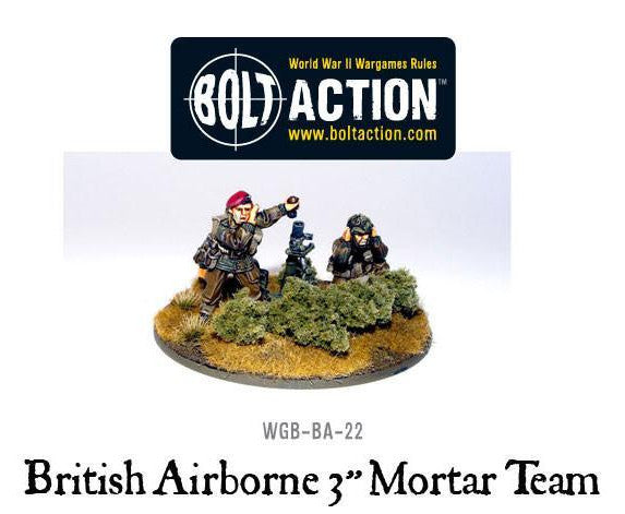 Bolt Action British Para 3 Inch Mortar & Crew