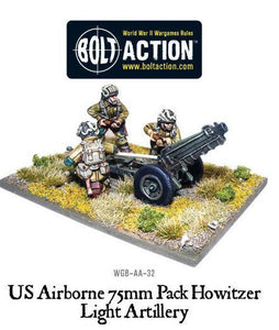 Bolt Action US Airborne 75mm Pack Howitzer & Crew