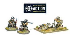Bolt Action US Airborne Bazooka & 60mm Light Mortar Team