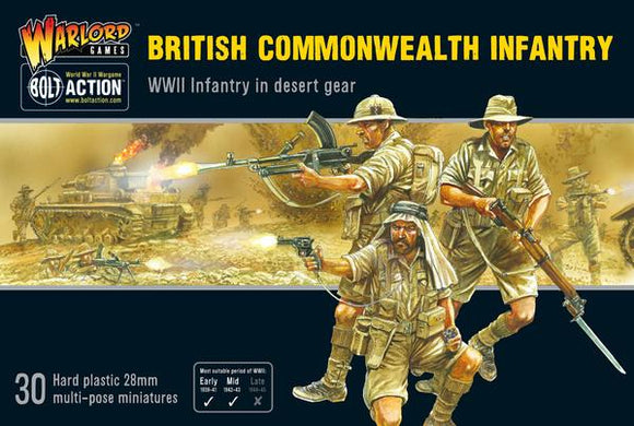 Bolt Action British Commonwealth Infantry Set