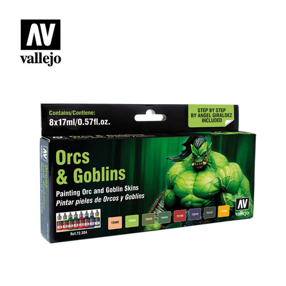 Vallejo AV72304 Game Colour Orcs & Goblins 8 Colour Set