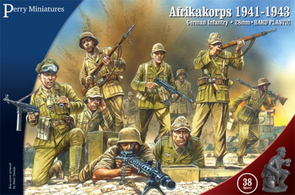 Perry Miniatures Afrika Korps German Infantry 1941-43 Set