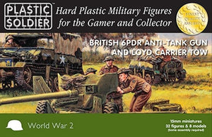 Plastic Soldier Company British 6 pdr And Loyd Carrier Tow