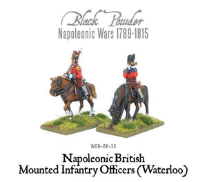 Warlord Games Mounted Napoleonic British Infantry Officers Waterloo
