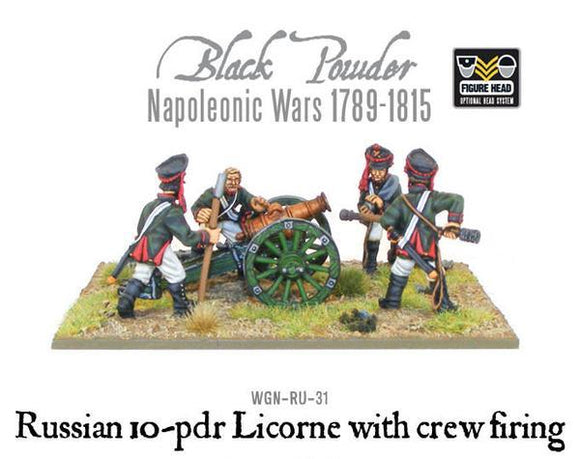 Warlord Games Napoleonic Russian 10 pdr Licorne Howitzer With Crew