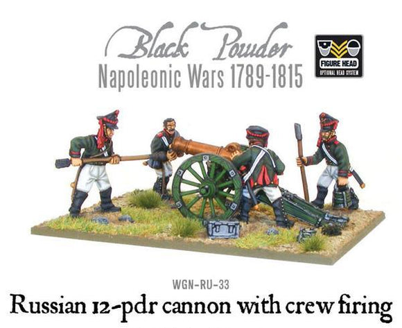 Warlord Games Napoleonic Russian 12 Pdr Cannon With Crew 1809-1815