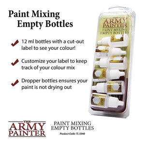 The Army Painter Paint Mixing Empty Bottles