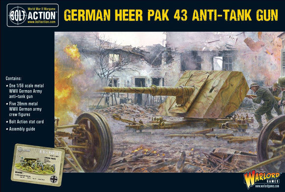 Warlord Games German Heer Pak 43 Anti Tank Gun