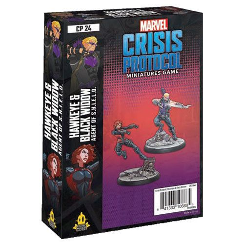 Marvel Crisis Protocol Miniatures Game Hawkeye & Black Widow