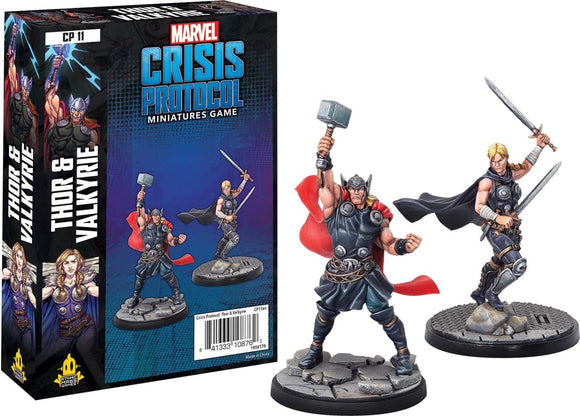 Marvel Crisis Protocol Miniatures Game Thor & Valkyrie Expansion Set