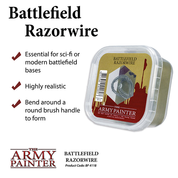 The Army Painter Battlefields Basing Material Razor Wire