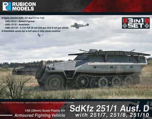 Rubicon Models SD.KFZ 251/1 AUSF.D (3 in 1) German Half Track