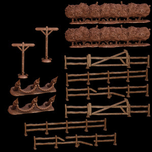 Terrain Crate Battlefield Fences & Hedges Set