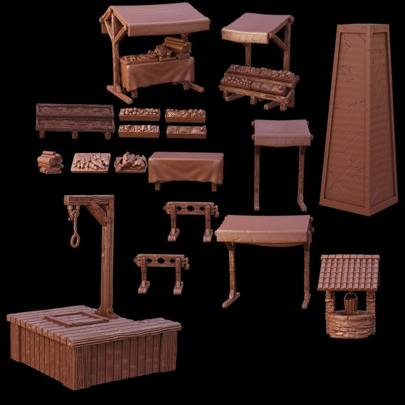 Terrain Crate Village Square Set