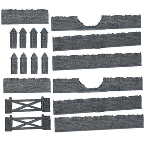 Terrain Crate Battlefield Walls Set