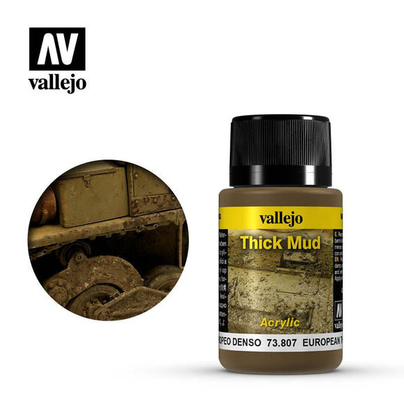 Vallejo Weathering Effects European Thick Mud 40ml