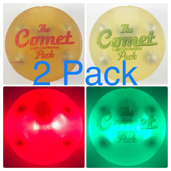 (2 Pack, Green & Red) The Comet Puck