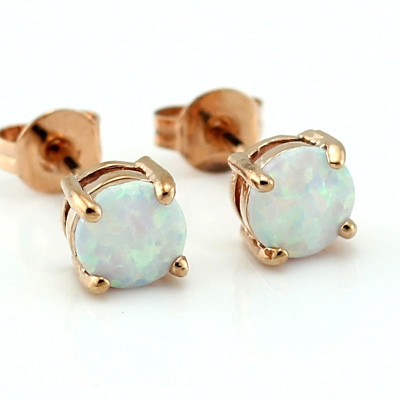 OPAL Rose Gold Earrings