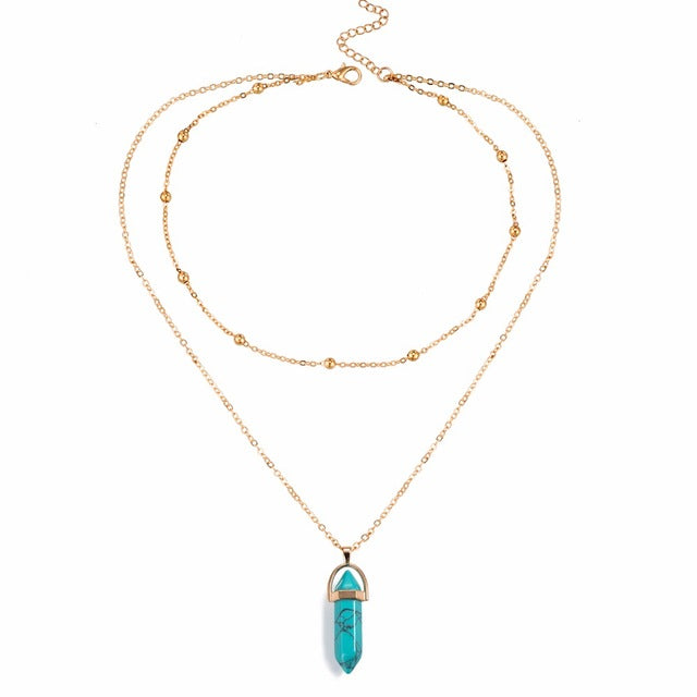 """Island Girl"" Layered Opal Necklace"