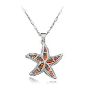 STARFISH Opal Necklace Pendant