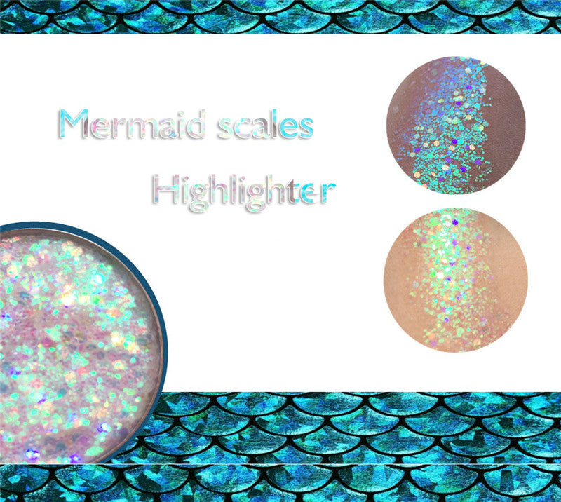 Mermaid Scales Face&Body Party Highlighter Powder