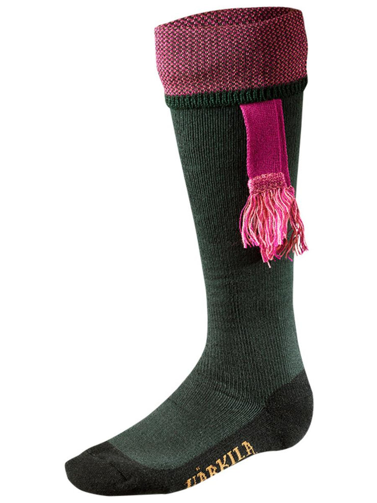 Harkila Sporting Estate sock Bottle green/Pink