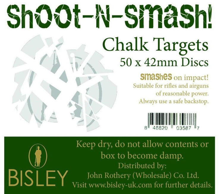 Bisley Chalk Targets Shoot-N-Smash 42mm Box of 50