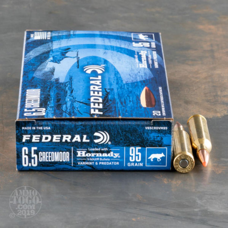 Federal NEW 6.5 Creedmoor V-Max 95gr 20pk