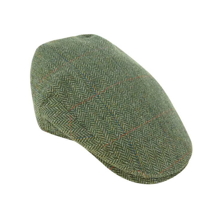 Hoggs of Fife Helmsdale W/P Tweed Cap Green