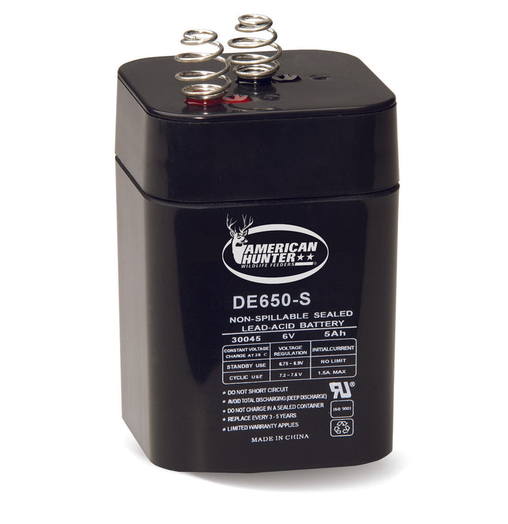 HME BL-650-S / 6V 5 AMP HR LANTERN RECHARGEABLE BATTERY / SPRING TOP CLAM PACK