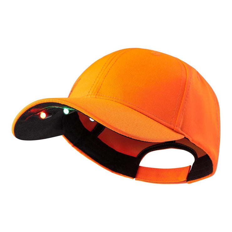 Deerhunter Cap with LED light - Orange