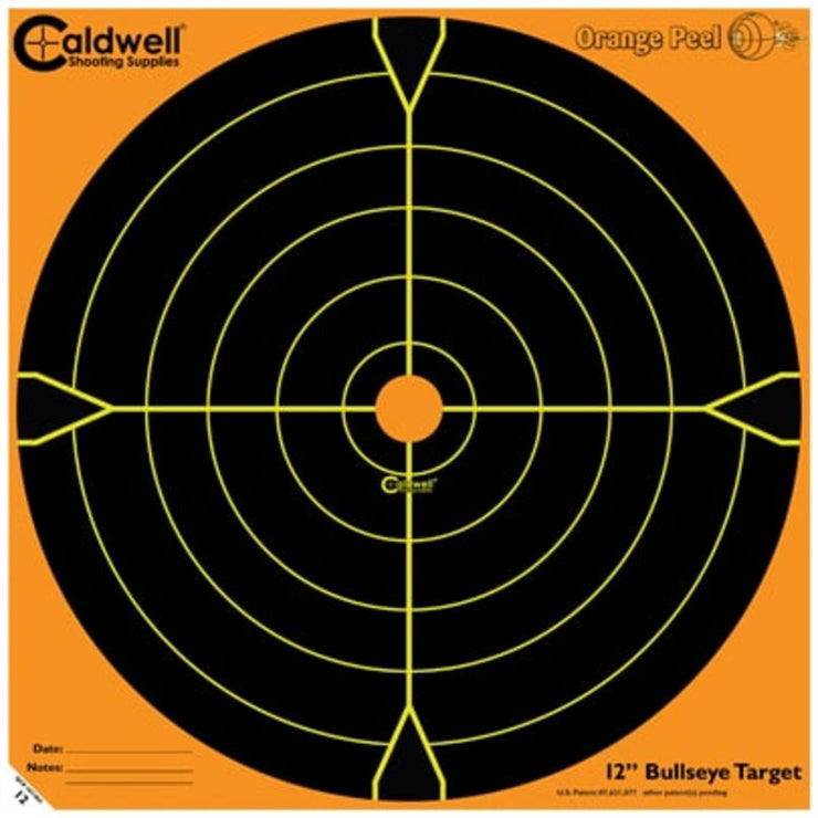 Caldwell Caldwell Orange Peel 12 Inch Bullseye 5 Sheets