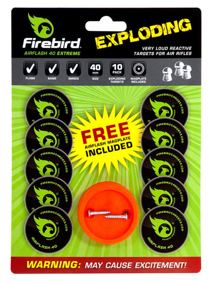 Bisley Air Flash Firebird Reactive Targets Pack of 10