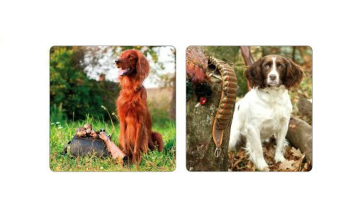 Gun and Game Coasters Set of 8 Mans Best Friend Pack of 6
