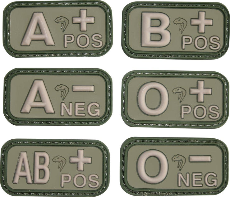 Blood Group Rubber Patches - Green A-